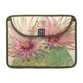 Fleurs roses de cactus poches pour macbook