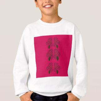 Fleurs roses de cru d'ethno sweatshirt