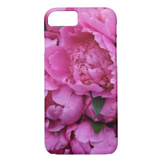 Fleurs roses luxuriantes de pivoine coque iPhone 7