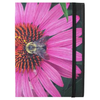 """Fleurs roses vives avec l'abeille iPad pro 12.9"""" case"""