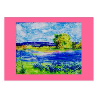 fleurs sauvages de bluebonnet carte de visite grand format