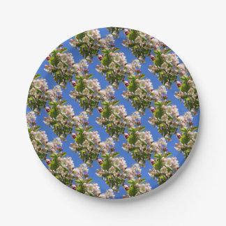 Fleurs sauvages de pommier assiettes en papier
