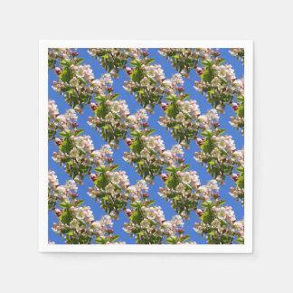 Fleurs sauvages de pommier serviette jetable