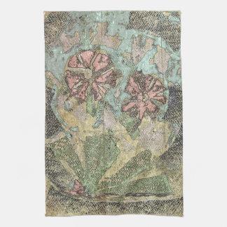Fleurs sauvages en pastel serviette pour les mains