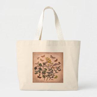 Fleurs sauvages floraux botaniques vintages grand tote bag