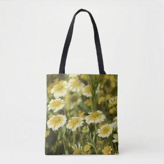 Fleurs sauvages jaune et blanc sac