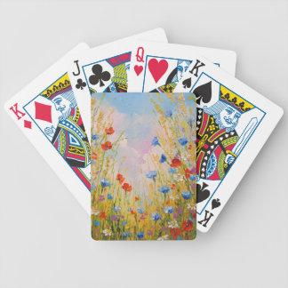 Fleurs sauvages jeu de cartes