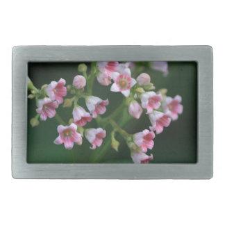Fleurs sauvages roses minuscules boucles de ceinture rectangulaires