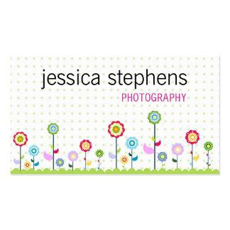 Fleurs simplistes cartes de visite personnelles