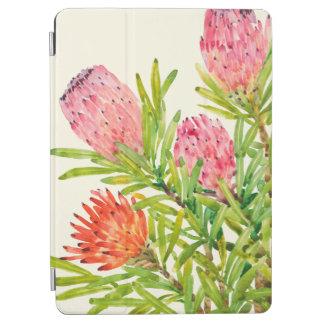 Fleurs tropicales d'aquarelle protection iPad air