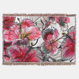 Fleurs tropicales de ketmie couverture