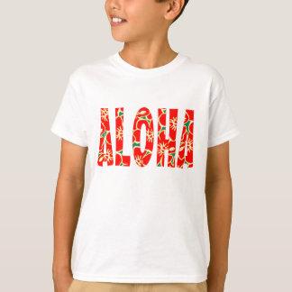 Fleurs tropicales de Luau de ketmie hawaïenne T-shirt