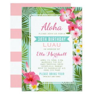 Fleurs tropicales des invitations | de Luau