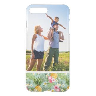 Fleurs tropicales et ananas de photo faite sur coque iPhone 8 plus/7 plus