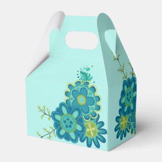 Fleurs turquoises douces et jolies ballotins