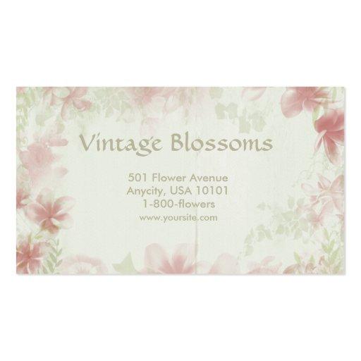 Fleurs vintages carte de visite