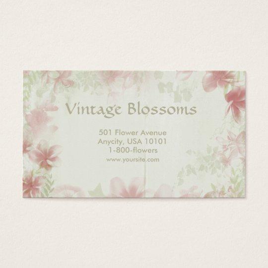 Fleurs vintages cartes de visite