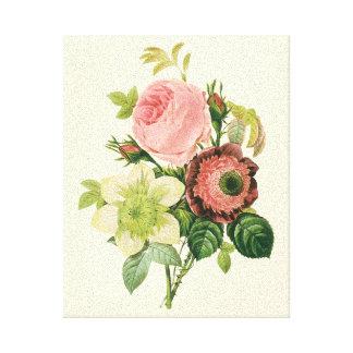Fleurs vintages, clématite de roses d'anémone par toiles