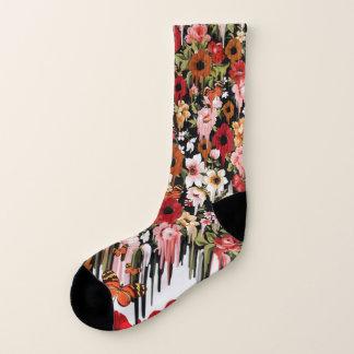 Fling de ressort fondant les chaussettes florales