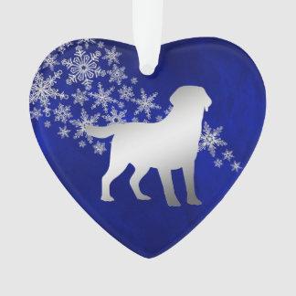 Flocon de neige argenté bleu labrador retriever