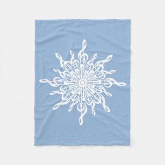 Flocon de neige bleu de G-Clef de monogramme Couverture Polaire