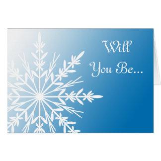 Flocon de neige bleu vous serez ma carte de