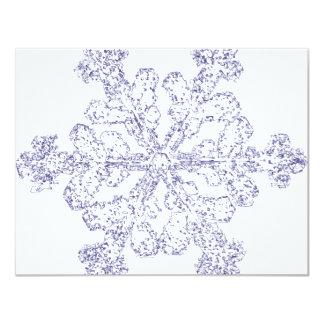 Flocon de neige carton d'invitation 10,79 cm x 13,97 cm