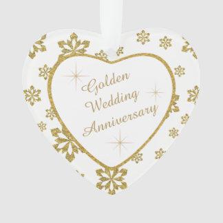 Flocon de neige d'anniversaire de mariage d'or