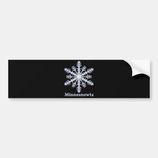Flocon de neige de bleu de Minnesnowta Autocollant De Voiture