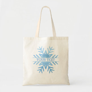 Flocon de neige de vacances d'aquarelle d'hiver sac