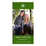Flocon de neige simple avec des couleurs personnal cartes de vœux avec photo