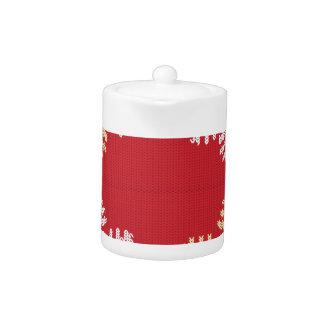 Flocon de neige tricoté par rouge