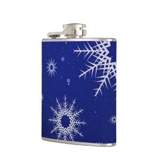 flocons de neige bleus flasques