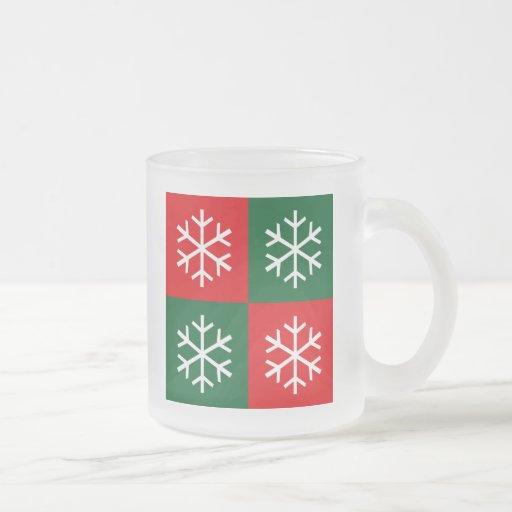 Flocons de neige d'art de bruit mugs à café