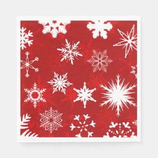 Flocons de neige de fête de Noël Serviette Jetable