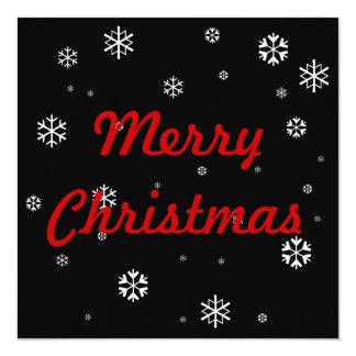 Flocons de neige de Joyeux Noël Carton D'invitation 13,33 Cm