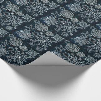 Flocons de neige de papier (motif de minuit de papier cadeau