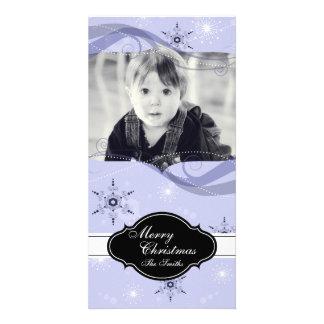 Flocons de neige de pourpre de carte photo photocartes personnalisées