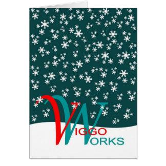 Flocons de neige de VW Carte De Vœux