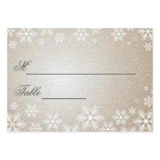 Flocons de neige et arrangement nommé de mariage d cartes de visite personnelles