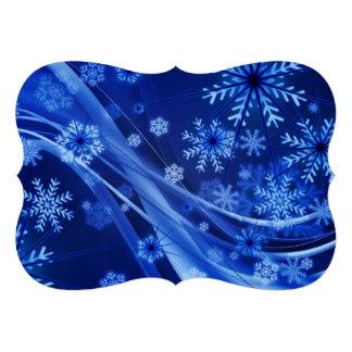 Flocons de neige frais de Christmastime sur le Faire-part Personnalisables
