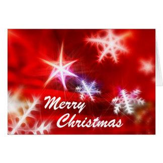 Flocons de neige lumineux de Joyeux Noël Carte De Vœux