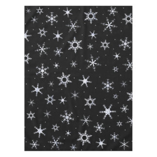 Flocons de neige noirs nappe
