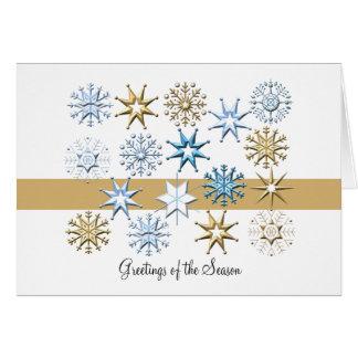 Flocons de neige pliés - carte de vacances