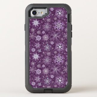 Flocons de neige pourpres pour la douleur coque otterbox defender pour iPhone 7