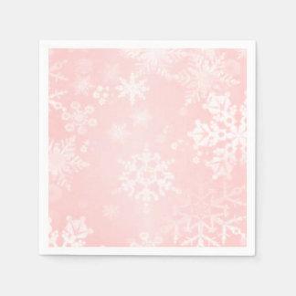 Flocons de neige sur les serviettes de papier serviette jetable