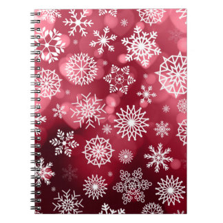 Flocons de neige sur un carnet de l'arrière - plan