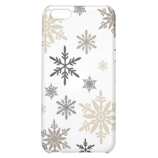 flocons de neige vintages modernes coque pour iPhone 5C