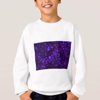 Flocons de neige violets sweatshirt