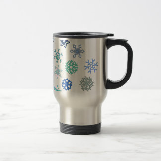 Flocons multi de transport mug de voyage
